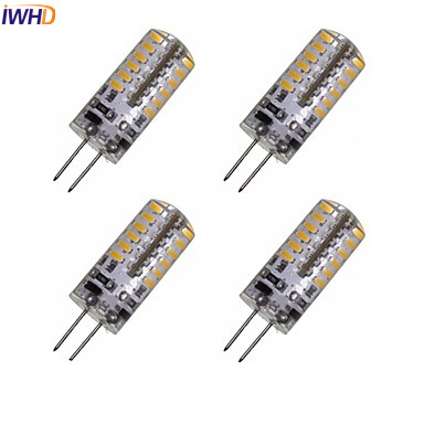 IWHD 2pcs <font><b>3W</b></font> Lampada <font><b>LED</b></font> G4 <font><b>12V</b></font> Bulb 48xSMD3528 210LM <font><b>LED</b></font> G4 Bi-pin Lights Replace Halogen Chandeliers 10PCS image