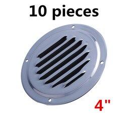 10 قطع مستديرة اللوفر الهواء تنفيس الفولاذ المقاوم للصدأ Louvered التهوية التهوية غطاء مصبغة 4