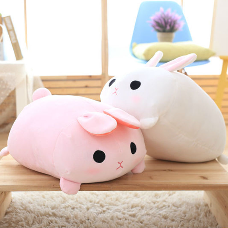 kawaii 50cm plush stuffed pink&white Bunny rabbits doll kids toy for baby&girl friend cute pillow gift baby sleeping toys cute pink sock monkey doll plush kids toys baby gift stuffed animal kawaii toy shops