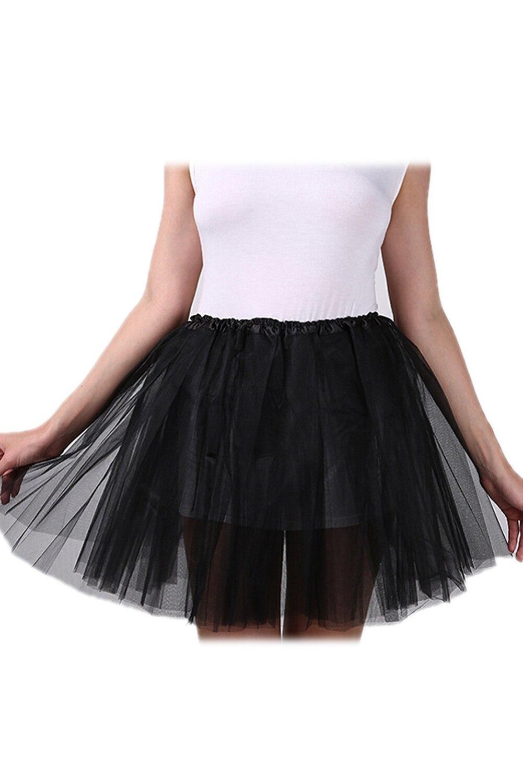 2017 NEW Women/Adult Organza Dance Wear Tutu Ballet Pettiskirt Princess Party Skirt Black
