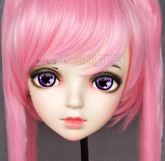 female Sweet Girl Resin Half Head Kigurumi Bjd Mask Cosplay Japanese Anime Role Lolita Mask Crossdress Doll Mask Competent miao-6