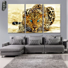Canvas Wall Art Animal Oil Painting Leopard Modular Pictures Decorative Prints and Posters 3 Panel for Living Room Wall No Frame 3