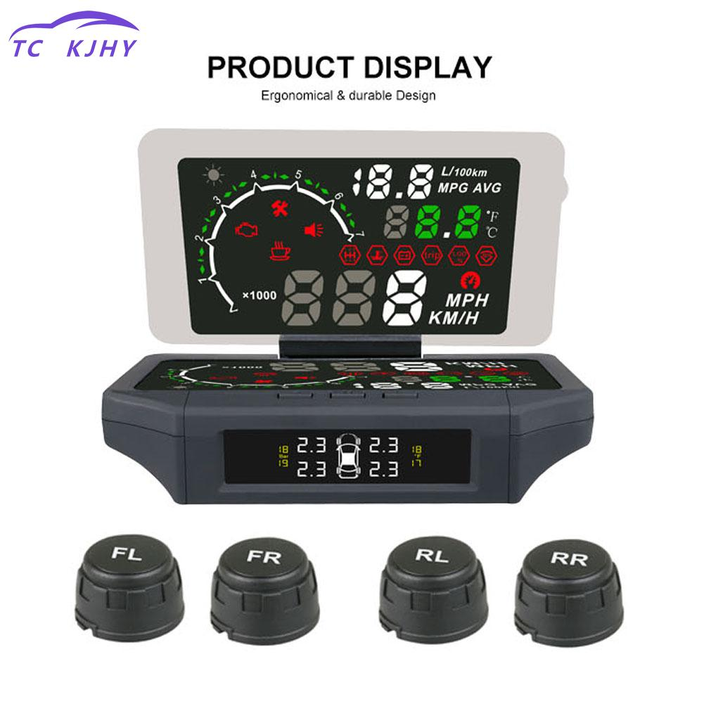 Auto Car Head Up Display Smart Hud Holder 3-in-1 Car Hud Head Up Display Mount With Tpms Monitor Car Display Panel Hud Display a900 3 5 inch car hud head up display obdii interface