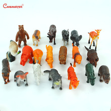 Farm Animal Sets Montessori Toys Safe Plastic Model Educational Toy Game Home Toddlers Practice Teaching Set Wild Animal BO075-3