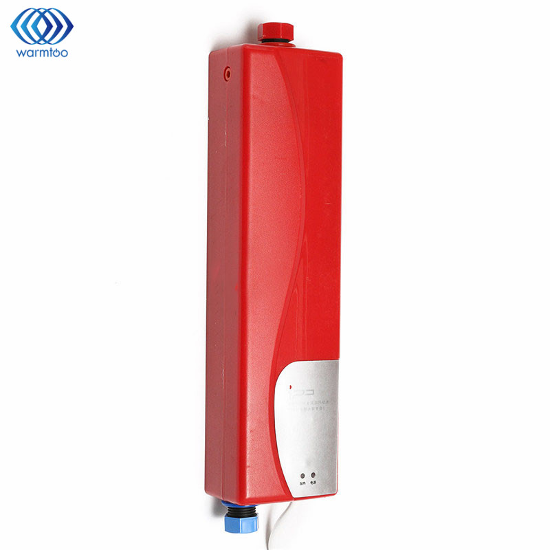Water Heater Electric Tankless Shower Hot Water System With LED Lights Security Thermal Cut Out Memory Function 3000W 220V