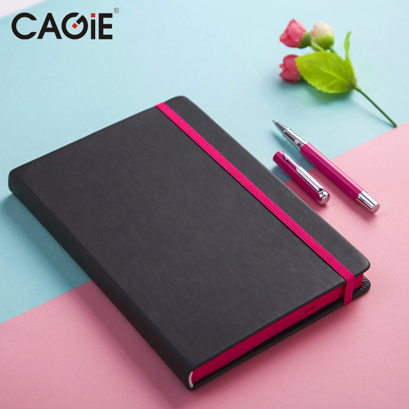 CAGIE Any Year Black Bandage Notebook Weekly Planner A5 Creative Office Stationery Monthly/Weekly Diary With a Pen Gift 83 9 66cm weekly planner office chalkboard blackboard black chalk board sticker