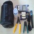 Kit de fibra óptica FTTH ferramenta com FC-6S Cleaver e vermelho de luz Laser Pen localizador Visual de falhas 1 mw e medidor de potência óptica Strippers