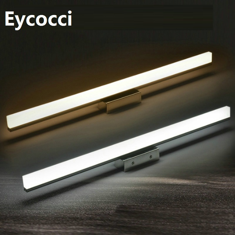 2018 Acrylic LED Wall lamp 7W 40CM AC85-265V Bathroom Mirror Front Light Waterproof Indoor Instant Vanity Lights Makeup Lamps 40cm 12w acryl aluminum led wall lamp mirror light for bathroom aisle living room waterproof anti fog mirror lamps 2131