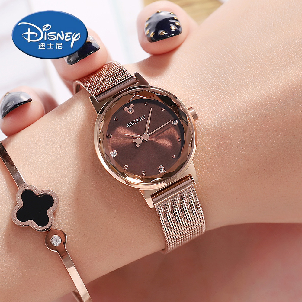 Disney women watches fashion quartz watches luxury watch mickey mouse women stainless steel ins