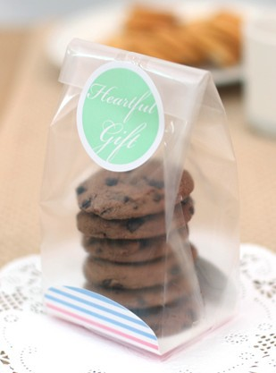 Retail plastic cookies bag bakery biscuits sweet candy for Cajas de plastico transparente