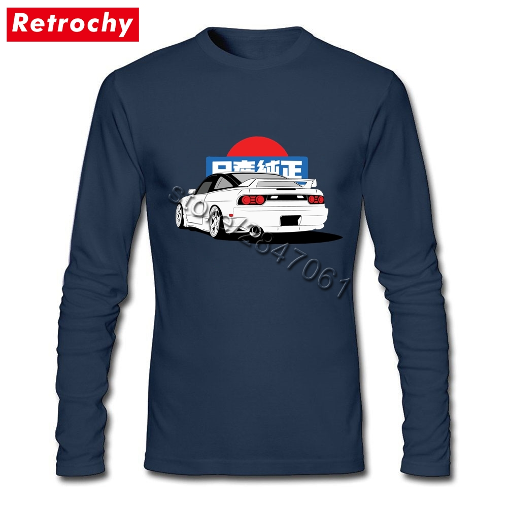 Custom Design Shirt S13 Jdm T Shirt Boys Long Sleeve Crew Neck Soft