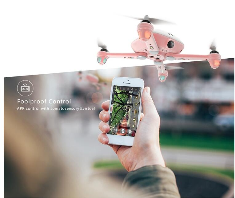 New smart phone control selfie drone Kimon with HD 4K camera flying quadcopter Auto-return out of control