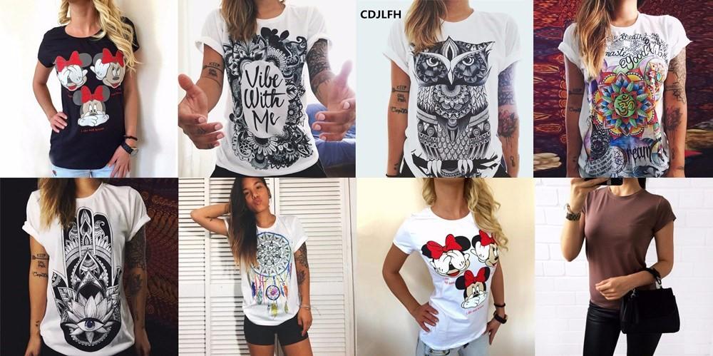 100% Pur Coton T-Shirt D'été 2018 Vente De Mode Col Rond T-shirt Adorable Panda Mignon T-shirt Femmes kawaii Vêtements Casual 9