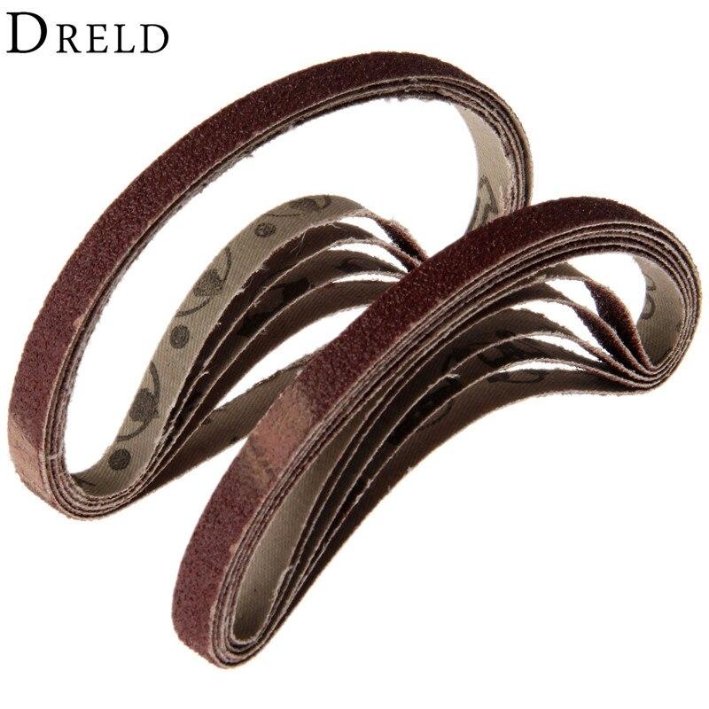 10Pcs 10x330mm Abrasive Sanding Belt For Belt Sanders Bench Grinder Grit 60 Sanding Paper For Grinding Polishing Sander Tool