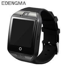 Relógio inteligente Câmera Apoio TF Cartão Q18 Passometer Chamada Do Cartão SIM Smartwatch Para Android Phone Melhor Do Que A1 DZ09 GT08