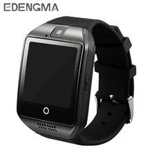 Smart watch Q18 obsługa karty TF Passometer aparat SIM karty otrzymać telefon zwrotny od smartwatch dla Androida telefon lepiej niż A1 DZ09 GT08 tanie tanio EDENGMA Noctilucent Czas światowy Kalkulatory 24 godzin instrukcji Wiadomość przypomnienie Interaktywne Muzyki Kalendarz