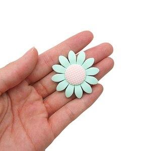 Image 3 - Chenkai 50 шт. Силиконовые Прорезыватели для зубов с подсолнухом BPA Бесплатно Детские Силиконовые Прорезыватели для грызунов DIY Детские Прорезыватели игрушки