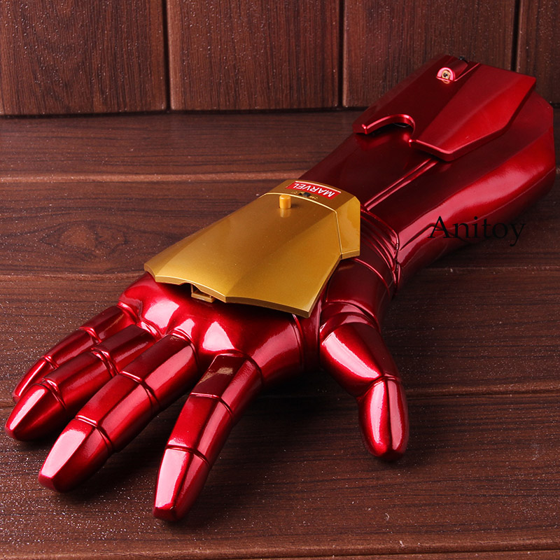 Marvel Iron Man 3 Cosplay 1 1 Arm Glove with LED Light Infrared Launchable Cosplay Toy