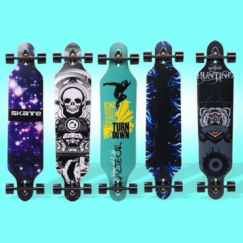 Professional Complete Longboard Skateboard Street Dancing Longboard Skateboard Downhill Maple Deck Board maple wood four wheel professional wooden skateboards longboard drift skateboard abec 11 chrome steel bearings longboard 3 color