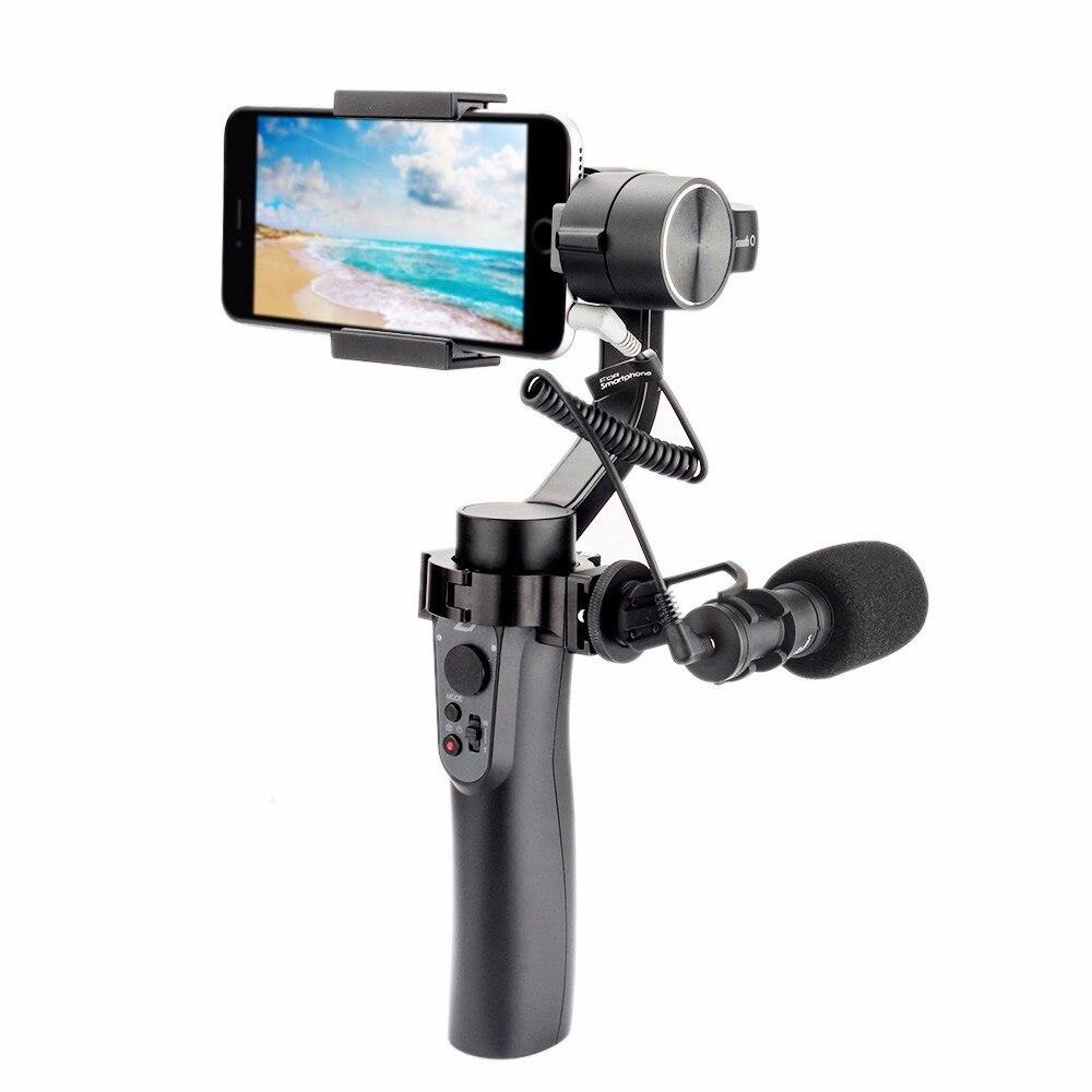 Zhiyun LISA Q 3-eixo Cardan Handheld Estabilizador para Smartphone câmera de ação telefone para o iphone X Gopro Hero 6 5 sjcam Xiaomi YI