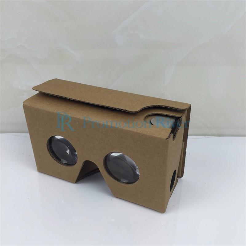 Event Supplies Logo Custom Google Cardboard V 2.0 Custom printing Virtual Reality Headset VR Viewer for up to 6 inch phone 5