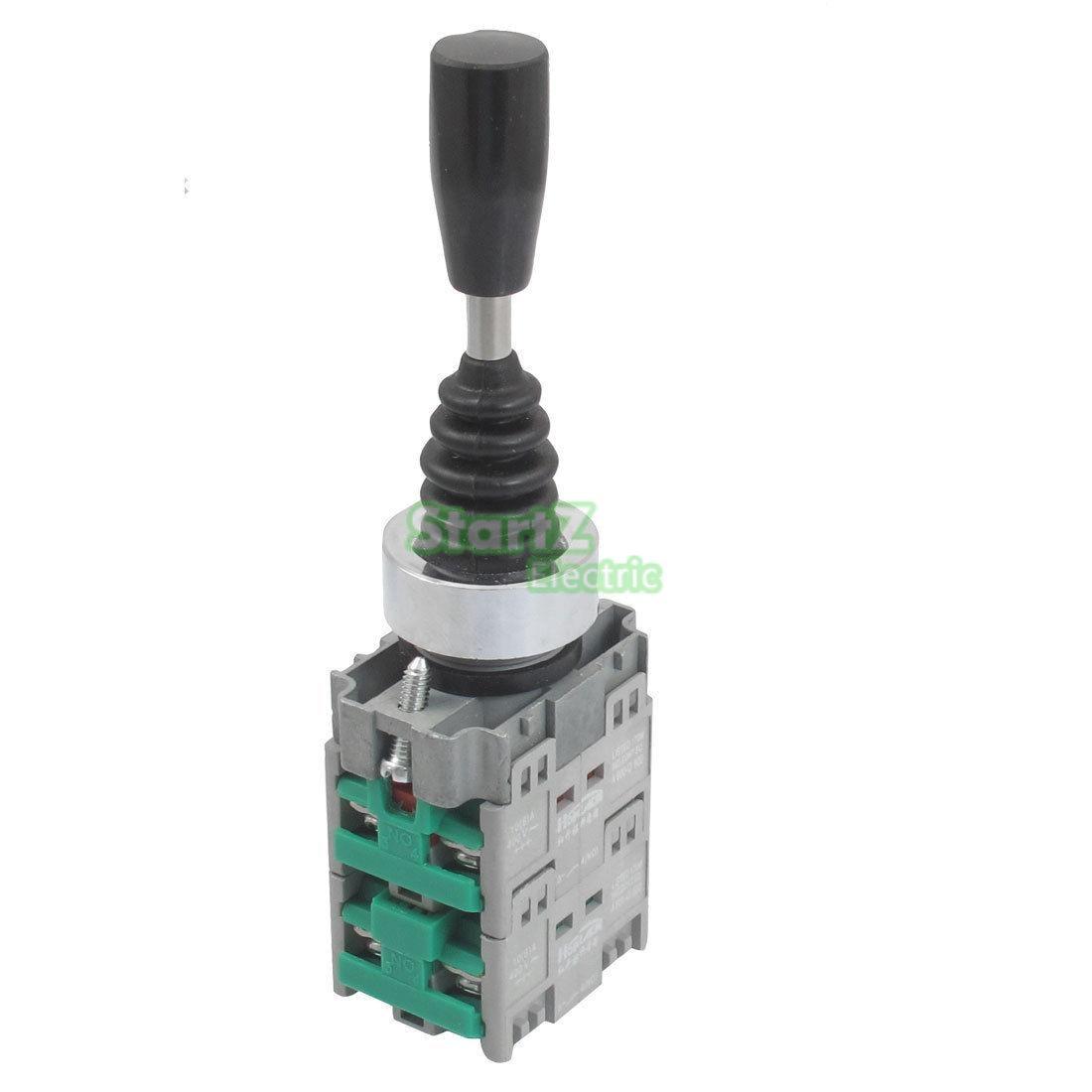 22mm 4NO 4Position Self-locking Type Monolever Joystick Switch Cross Button Switch HKL-D14 tn2ss rotary button switch gear selection type 2 22mm with self locking