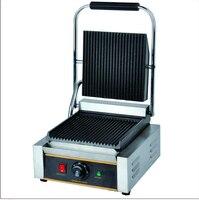 Máquina elétrica comercial de aço inoxidável da grade de panini do sanduíche da vara  imprensa de panini