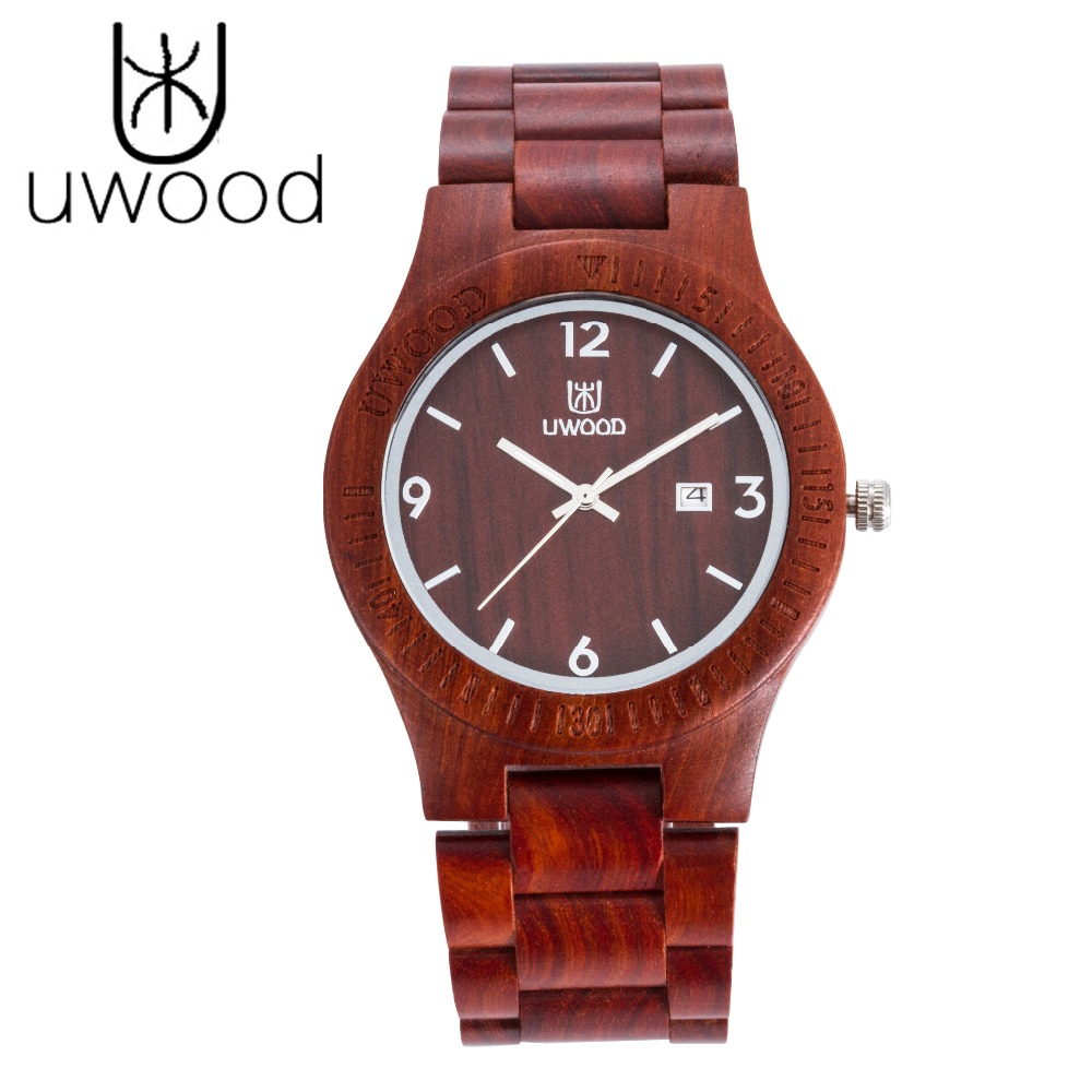 Fashion New 2018 Men's Wooden Wristwatches Band Luxury Wood Watches Quartz Watch With Calendar Display for Men as Gifts Item luxury fashion japan quartz men wood watch arabic big number vintage genuine leather band bamboo wooden wristwatches antibrittle