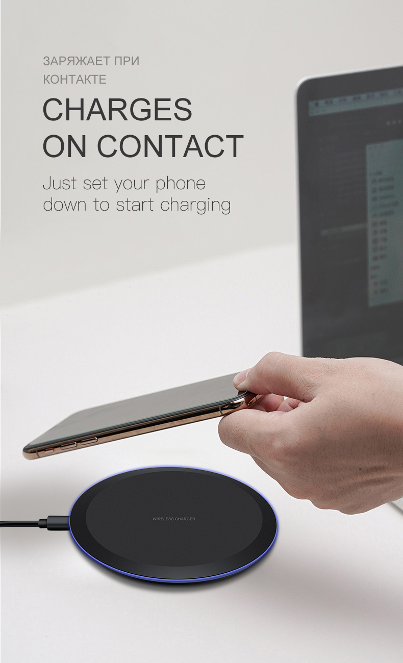 ESVNE 5W Qi Wireless Charger for iPhone X Xs MAX XR 8 plus Fast Charging for Samsung S8 S9 Plus Note 9 8 USB Phone Charger Pad-in Wireless Chargers from Cellphones & Telecommunications on Aliexpress.com | Alibaba Group 2