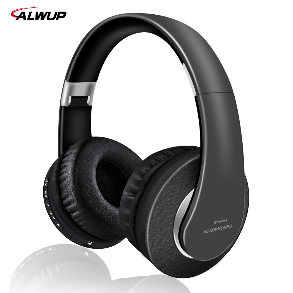 цена на Alwup Wireless Headphone Support Mp3 Player with Microphone Stereo Bluetooth Wireless Headset for Smartphone with 250mAh Battery