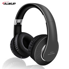 Alwup Wireless Headphone Support Mp3 Player with Microphone Stereo Bluetooth Wireless Headset for Smartphone with 250mAh Battery(China)