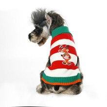 Купить с кэшбэком Winter Pet Dog Clothes Pets Medium Dogs Sweater With Deer Teddy Coat Dachshund Chandail Chien Vetement Chien Hoodie 5d0011