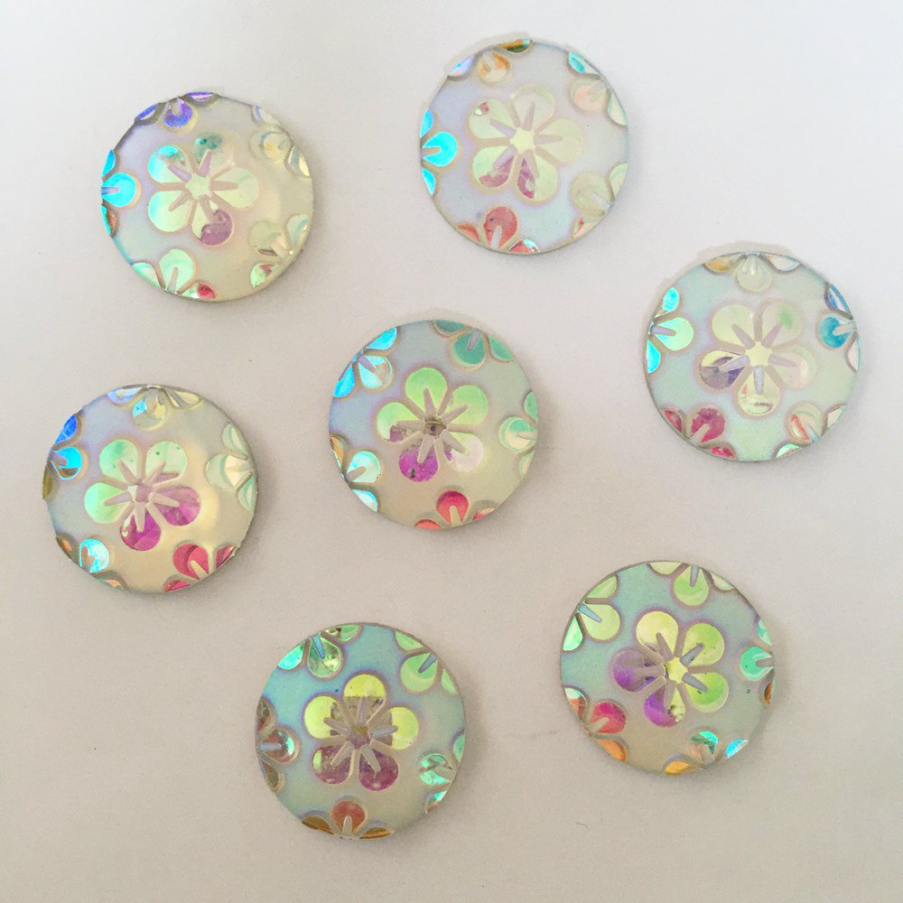 DIY 20pcs 20mm AB Round Resin flower Flatback Wedding Buttons diy craft  K051 2-in Buttons from Home   Garden on Aliexpress.com  c4caec297c06