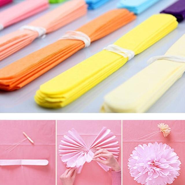 Artificial Paper Flower Balls 100pcs8 Wedding Birthday Decorations Tissue Pom Poms Pompom Car Decoration For