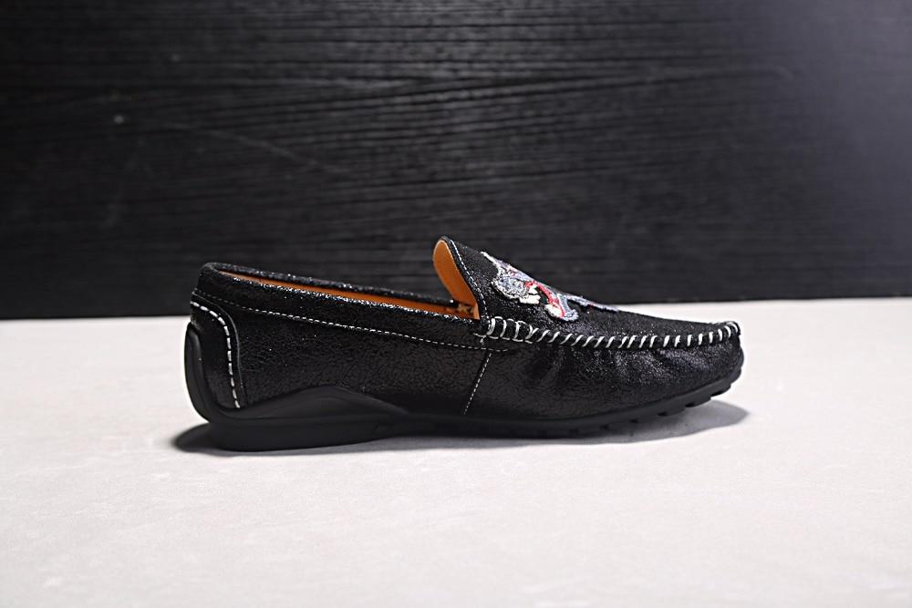 Negru Pantofi din piele naturala pentru barbati Pantofi casual pentru - Pantofi bărbați - Fotografie 3