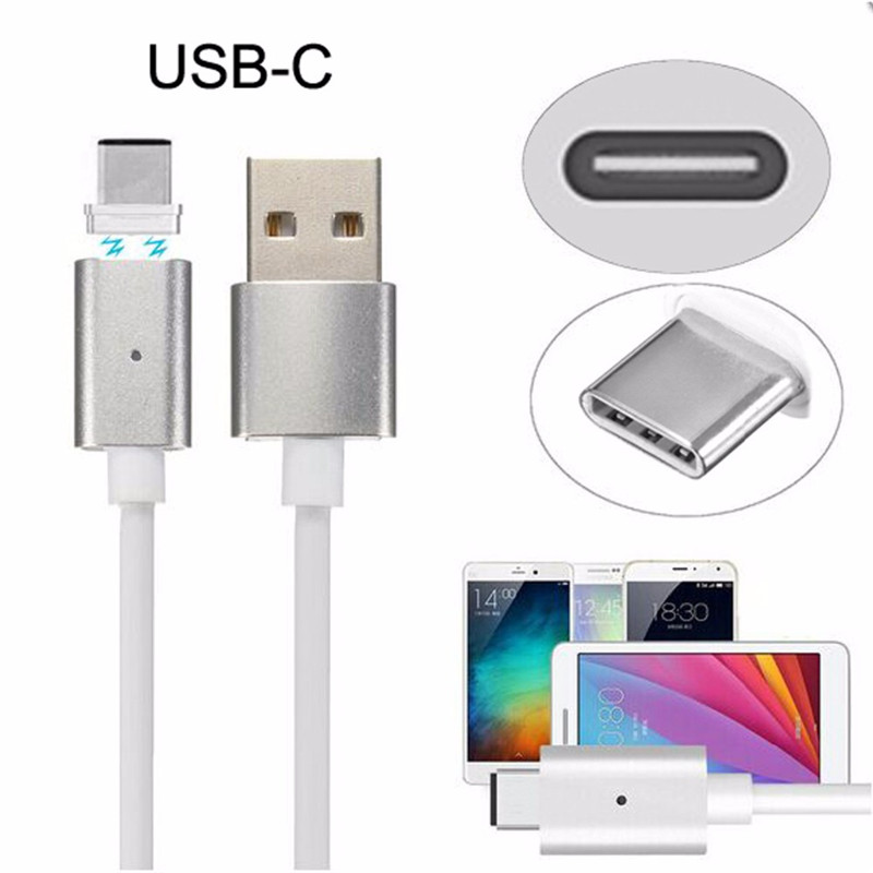 Magnetic USB Charge Cable Type-C Adapter Cable Charging For Nokia N1 Lumia 950 Huawei Nexus P9 LG G5 Xiaomi 4C 5 Meizu Pro 5 6