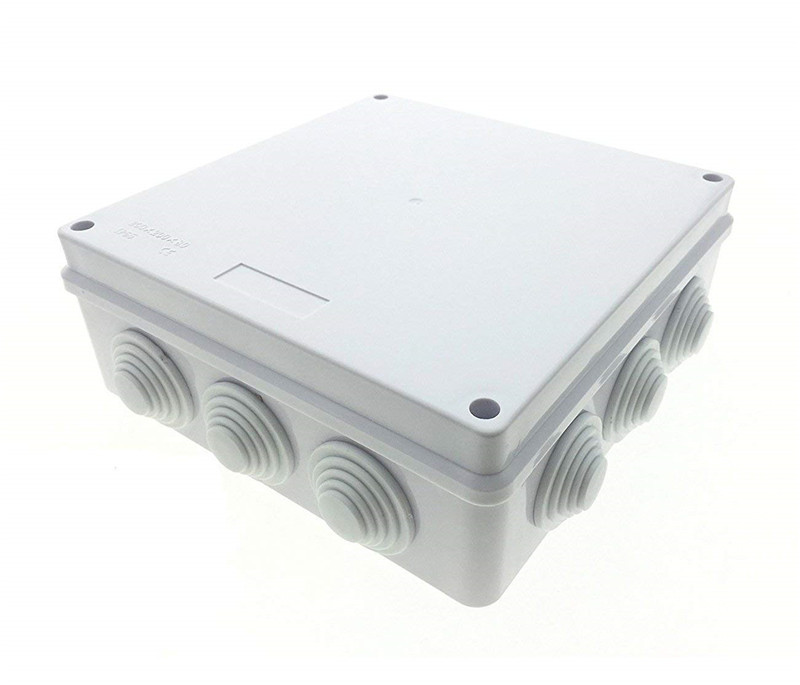 Large Electronic Plastic Project Box IP65 Waterproof Junction Box Electric Project DIY Case Power Outdoor Enclosure with Hole white waterproof plastic enclosure box electric power junction case 158mmx90mmx46mm with 6pcs screws