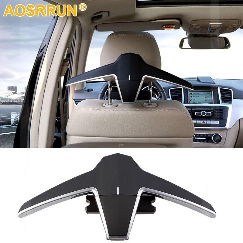 Multi-fonction de luxe de voiture siège arrière pliant cintre pour Mercedes-Benz Classe A B C E S V CLA CLS GLE GLC GLA GLS De Voiture Accessoires