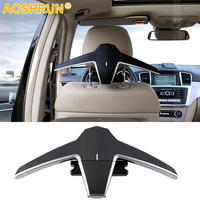Multi function luxury car seat back folding hanger for Mercedes Benz Classe A B C E S V CLA CLS GLE GLC GLA GLS Car Accessories