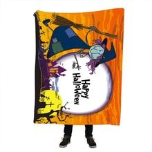 Halloween Printing Throw Blanket Printed Sherpa Fleece Blanket Super Soft Cozy Velvet Plush Throw Blanket
