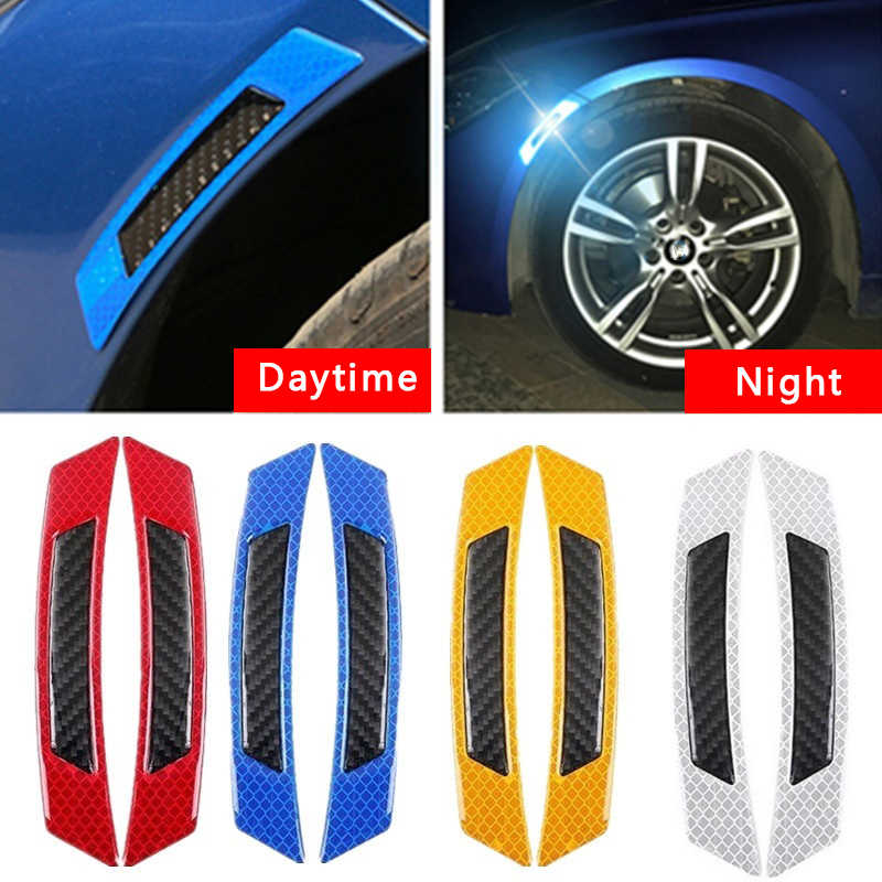 168*32mm Car Reflective Strip Anti-collision Warning Safety Mark Auto Side Anti-scratch Strip Car Door Bumper Sticker