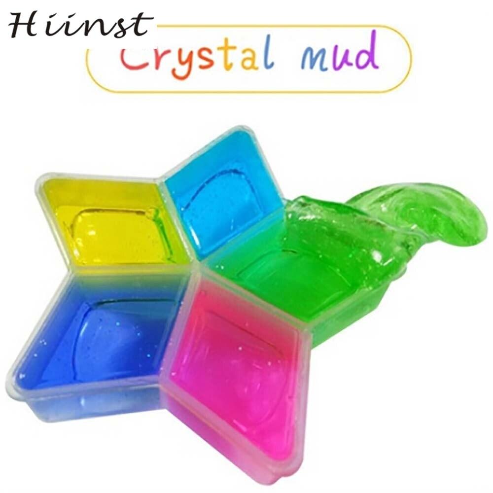 HIINST Creative Five - pointed Clay Slime DIY Crystal Mud Play Transparent Magic Plasticine Kid Toys dropship 3 AUG1540P
