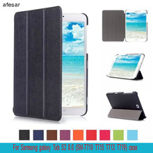 afesar SM-T710 T715 T713 T719 Tab S2 8.0 case cover  Ultra Slim for Samsung galaxy Tab S2 8.0 smart cover magnet auto sleep Case