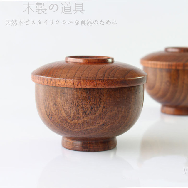 FREE Shipping New 2014 tableware baby wooden small bowl with cover multiple use W005