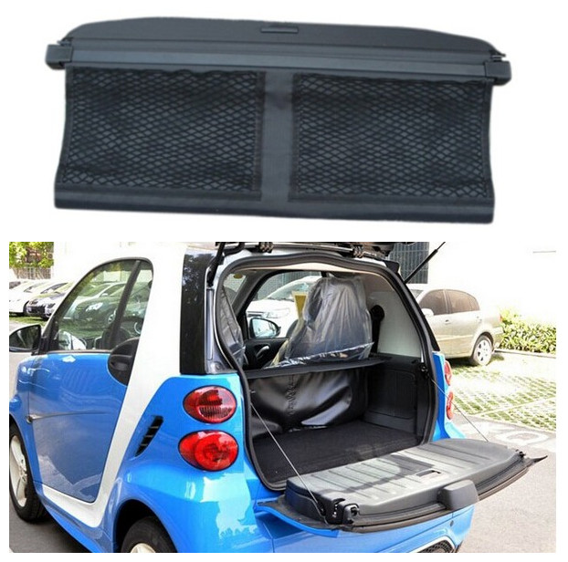 For Smart fortwo 2009 2010 2011 2012 2013 2014 Rear Trunk Cargo Cover Security Shield Screen shade High Qualit Car Accessories цены