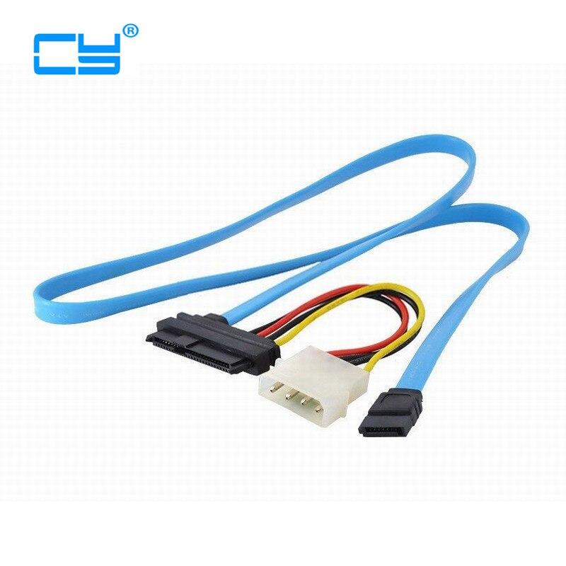 1pcs New arrival Serial ATA to SAS 7 Pin SATA 29 Pin & 4 Pin Cable Male Connector Adapter 70cm Wholesale