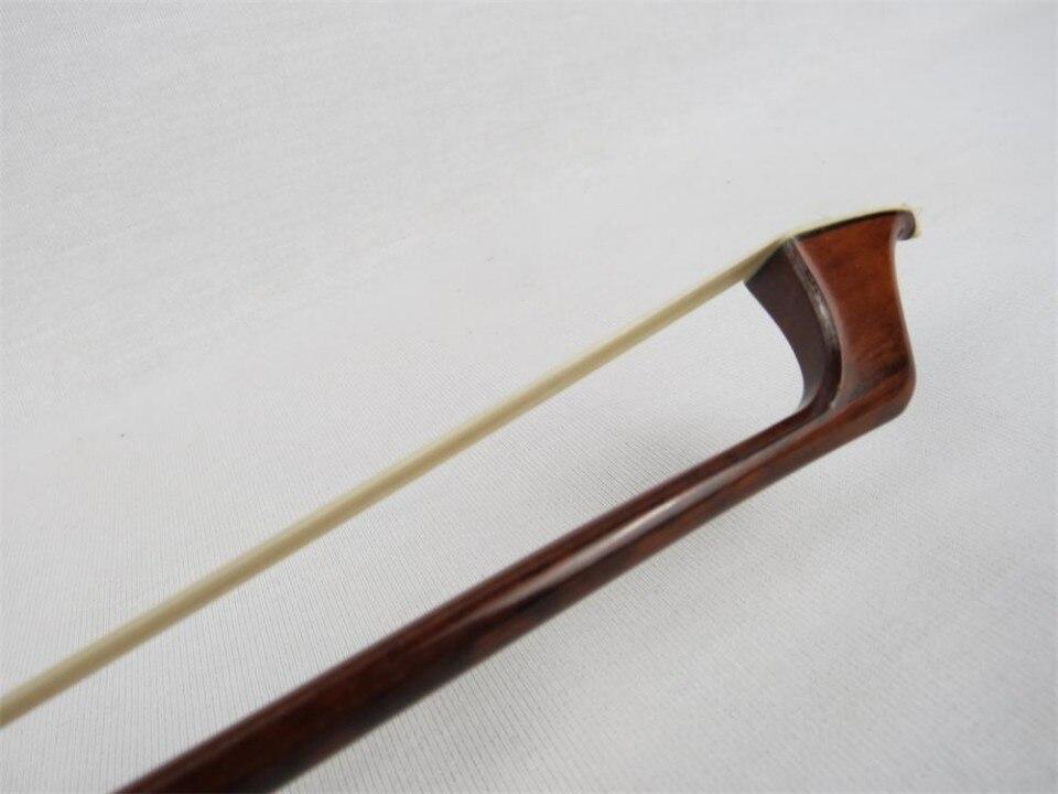 1 PC Vysoce kvalitní hadí dřevo Cello Bow 4/4 Bílé vlasy Hadové dřevo Žába