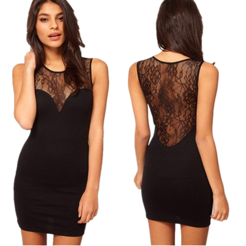 WOMEN DAY DAY UP Store 2017 New Bodycon Lace Dress Floral Vestidos Slash o-neck Sexy Short Evening Women Dress Clothing Plus Size Black
