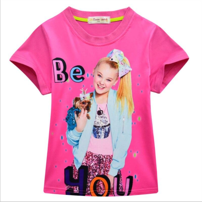 2019 New SUMMER Girls JOJO SIWA Kids Tops Clothing Kids Love Gifts T Shirts