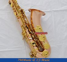 Professional New Rose Brass Tenor Sax Bb Saxophone High F# Metal Mouth With Case
